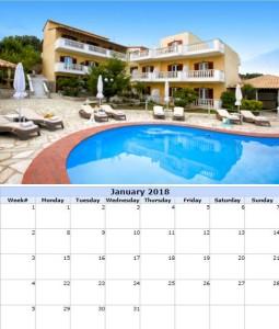 #skiathosbluehorizon #calendar #january 2018
