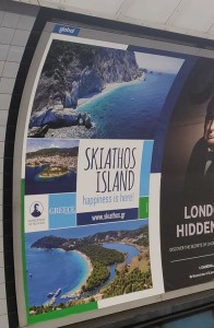 Skiathos island ,Metro of london